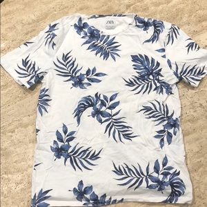 Men's Zara Blue Leaf Graphic Tee